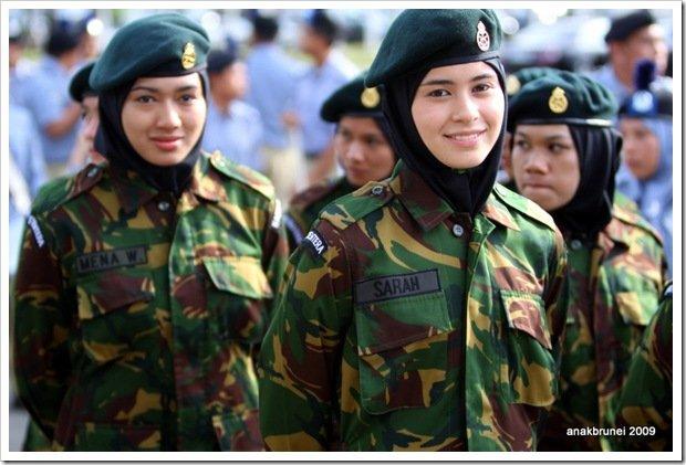 Tentara Nasional Brunei Yang Cantik dan Cute....