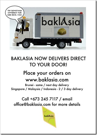 Baklasia Delivery Service!