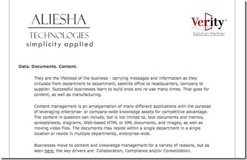 -- Welcome to Aliesha Technologies Online --